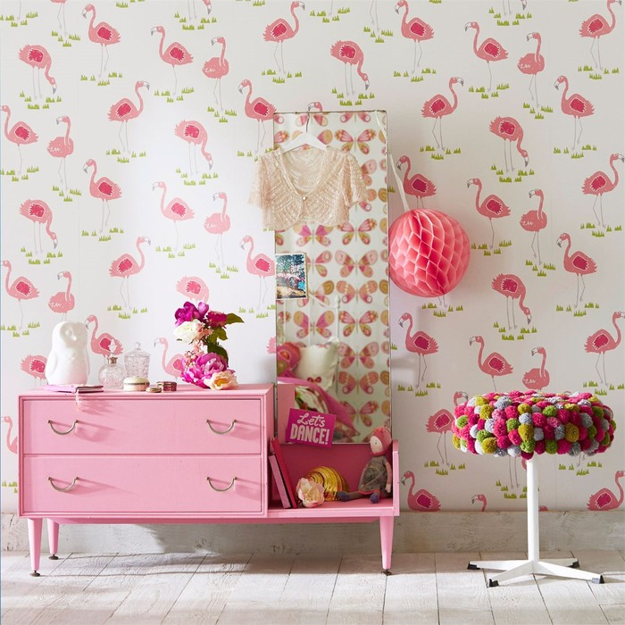 Big product scion guess who felicity flamingo wallpaper 1