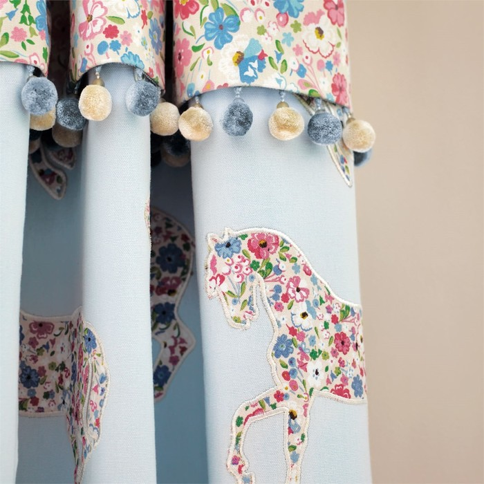 Big product pretty ponies fb curtain detail med